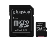 Kingston Canvas Select microSD 64GB + Adapter