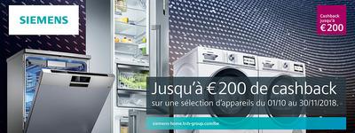 Siemens - Jusquà 200€ Cashback
