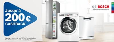 Bosch - Jusquà 200€ Cashback