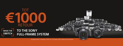 Sony - Tot €1000 cashback!