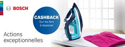 Bosch - CashBack fers à repasser