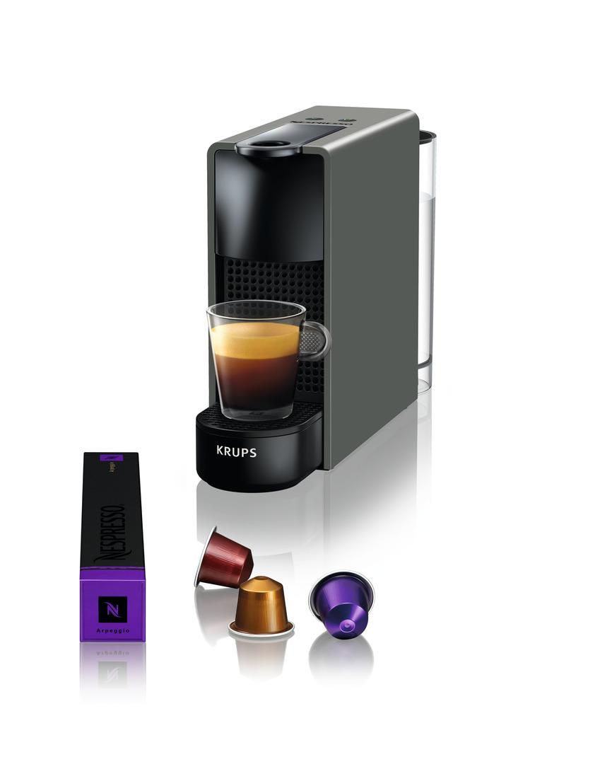 krups nespresso essenza mini grey xn110b10 art craft. Black Bedroom Furniture Sets. Home Design Ideas