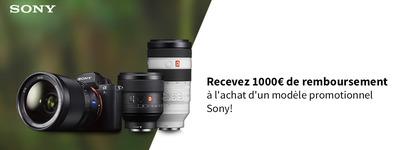 Sony -  Jusquà €1000 de cashback!