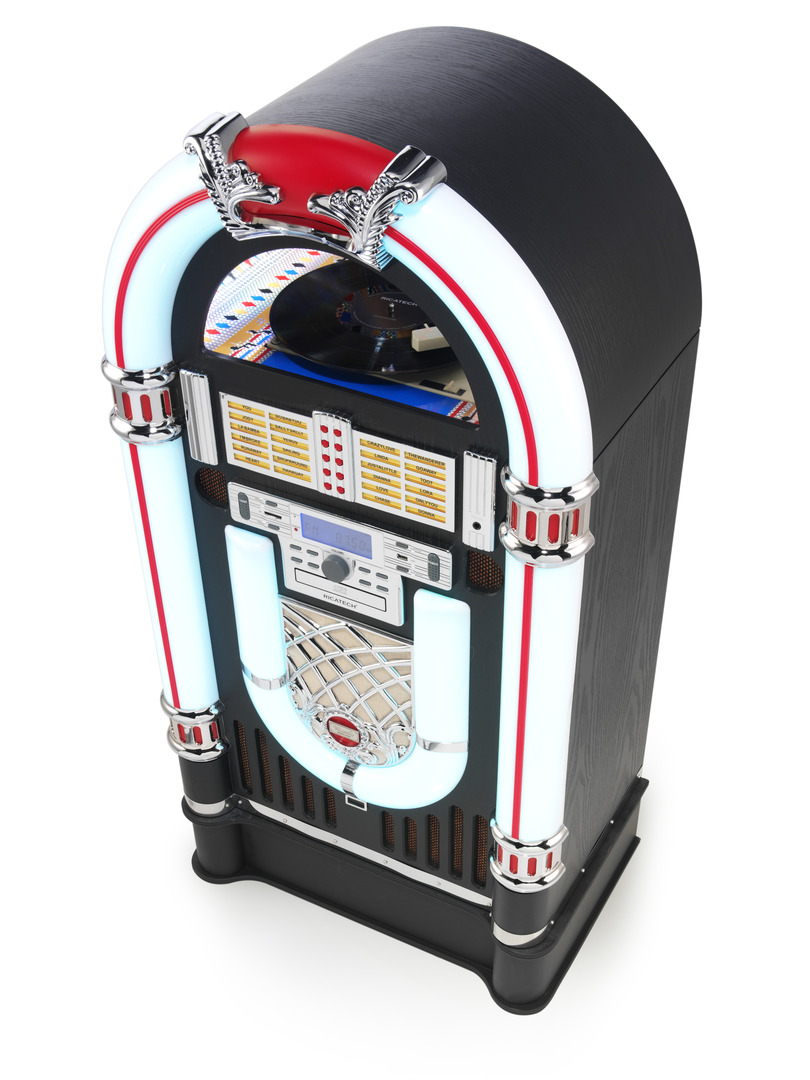 Ricatech RR3000BT, Classic Full Size LED jukebox Turnt Dig