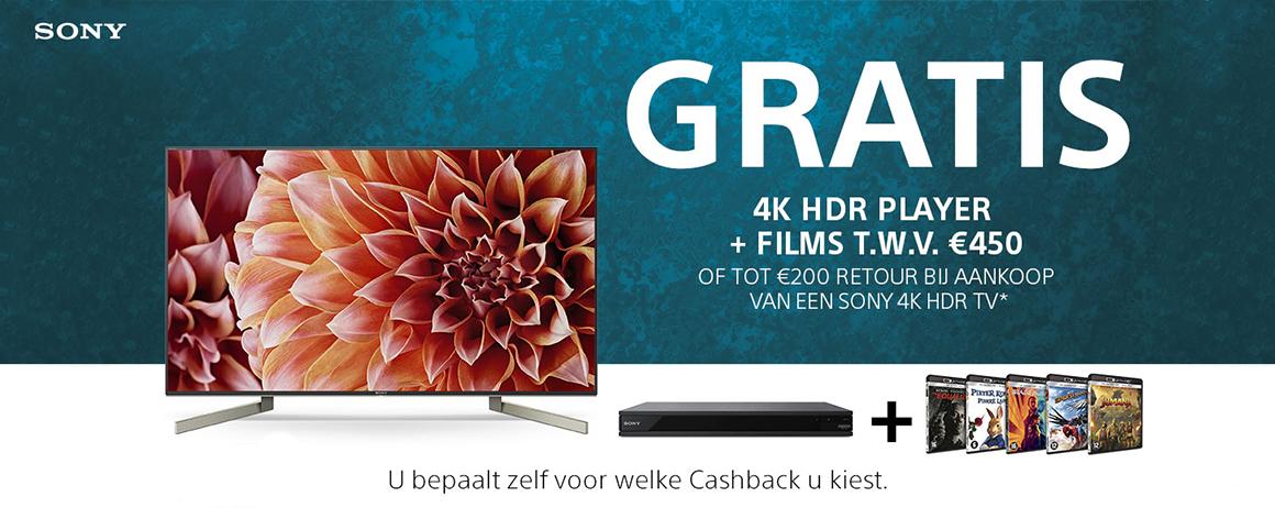 Sony - Tot €200 Cashback!