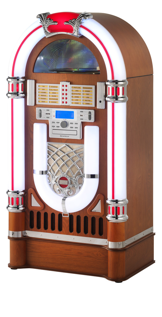 Ricatech RR2100 BT Full size Classic LED Jukebox | Art & Craft