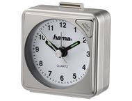 Hama 136238 Travel Alarm Clock A50, silver