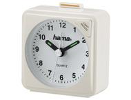 Hama 136240 Travel Alarm Clock A50, white