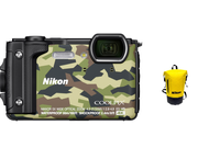 Nikon Coolpix W300 camouflage + WP tas