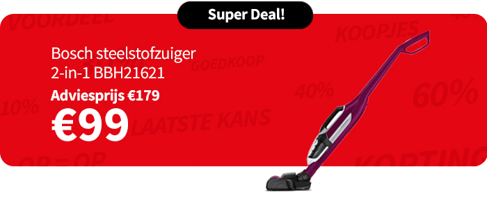 Bosch Steelstofzuiger 2-in-1 BBH21621