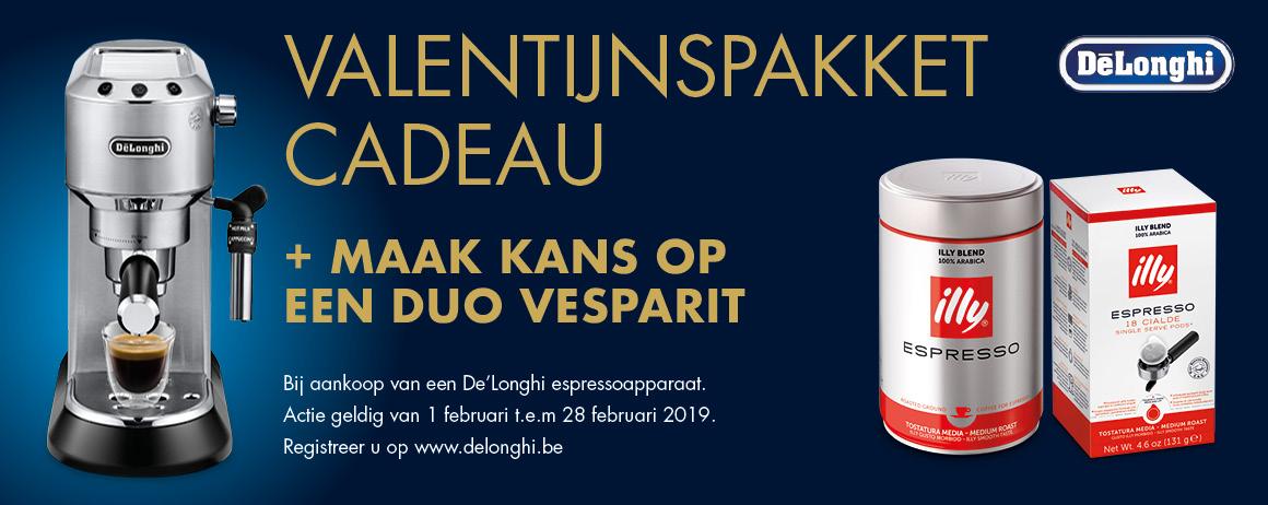 DeLonghi - Valentijnspakket