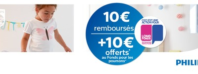 Philips - Cashback €10 et €10 au Fonds