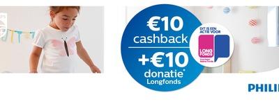 Philips - €10 cashback en doneer €10